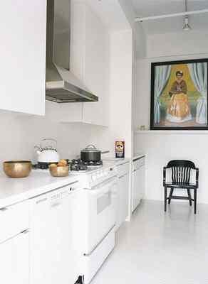 Cocina moderna en color blanco