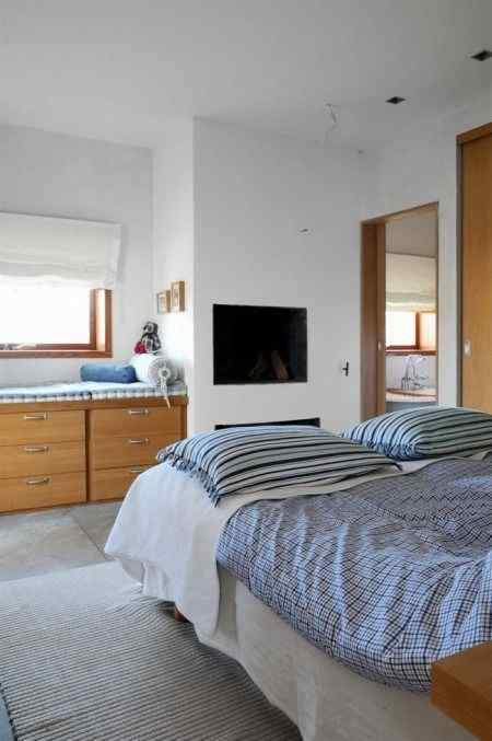 Habitación en chalet de playa de estilo moderna y contemporanea
