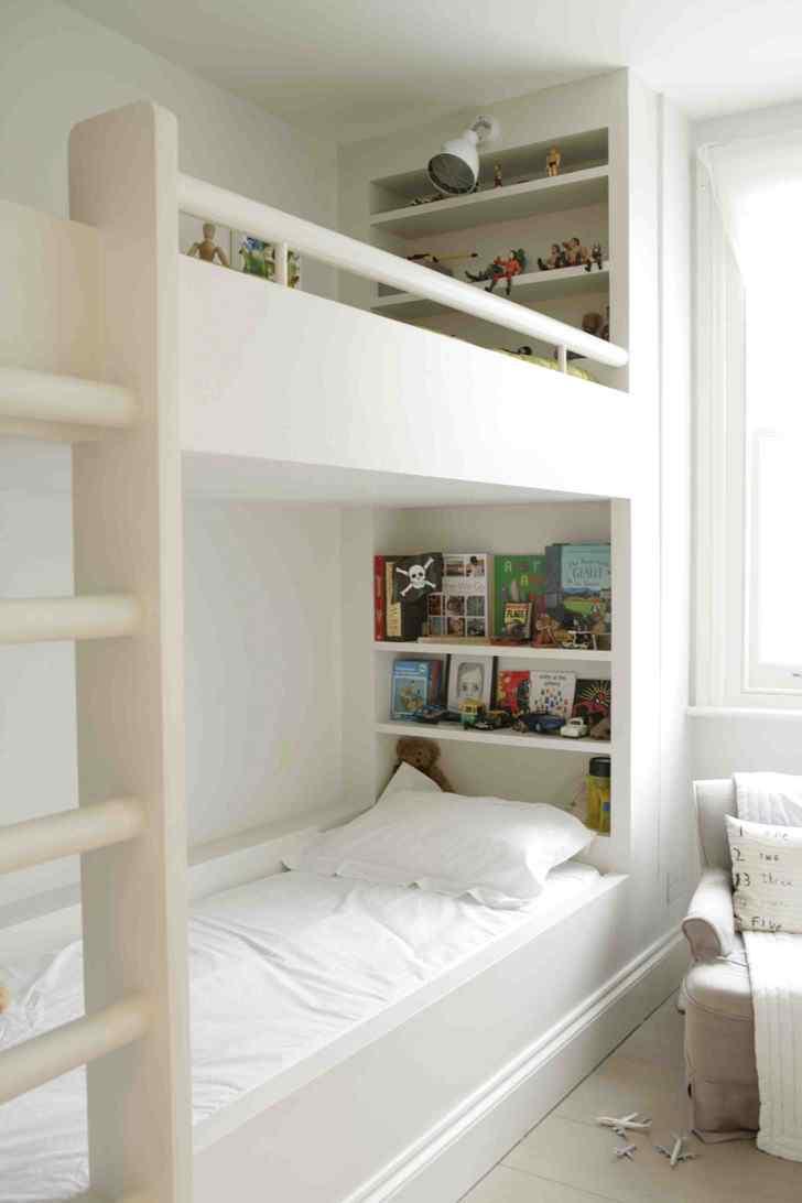 Decoración de interiores de casas modernas: dormitorio infantil con literas