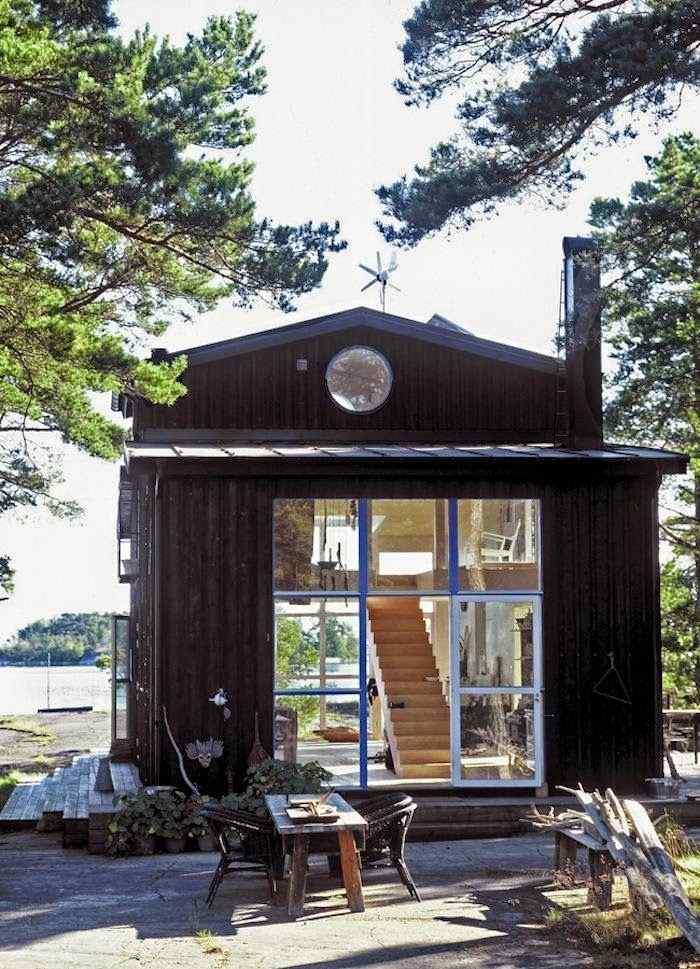 Decoración de casas pequeñas: cabaña de estilo rústico en Suecia