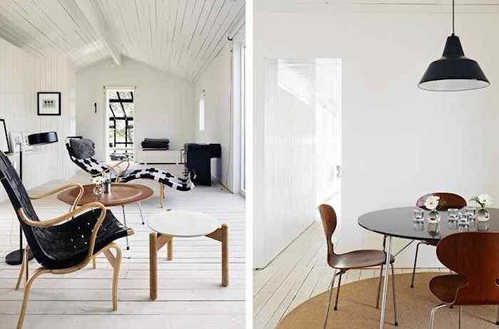 Estilo escandinavo: casa con decoración en blanco y negro 2