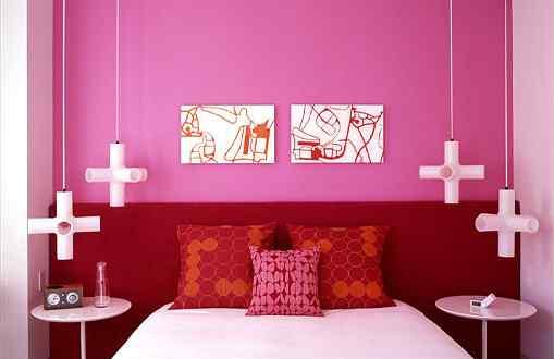 Loft con decoración en tonos rosa 4