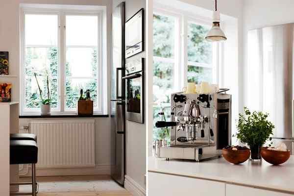 Puro blanco y mucha madera en la decoración de un departamento de 2 ambientes 6