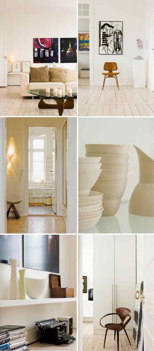 Apartamento Copenhague interiores diseño