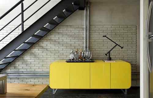 Interiores de estilo moderno en un loft
