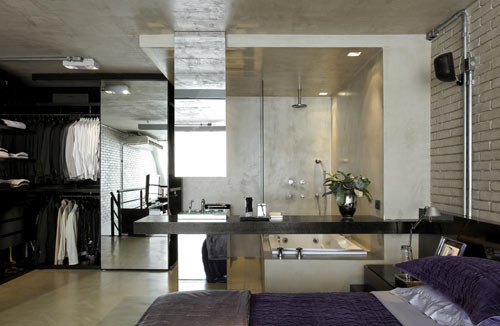 Habitación loft moderno