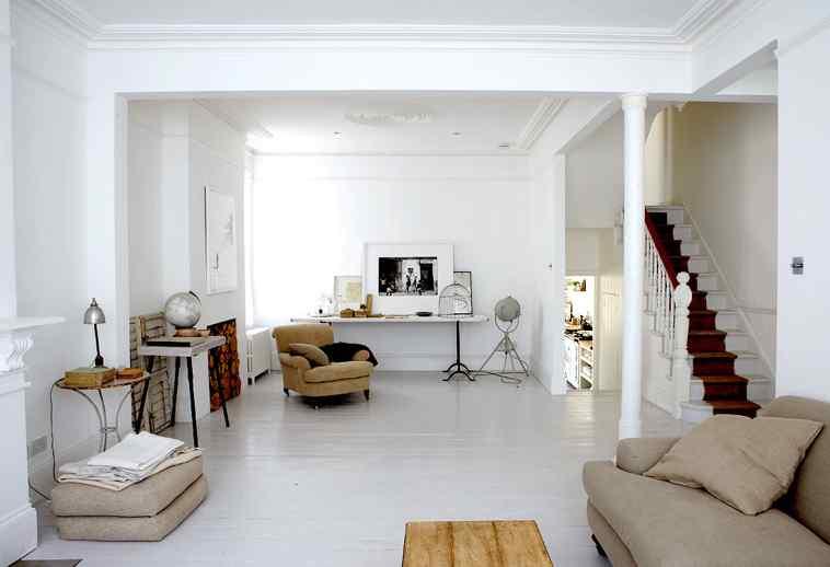 Blanco y vintage casas con decoraci n vintage for Decoracion de pisos pequenos fotos