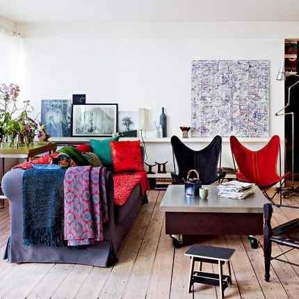 Colorido loft parisino - living