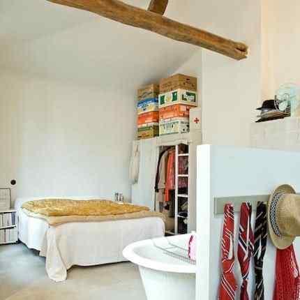 Espacios reducidos: elegante miniloft de 42 metros - dormitorio