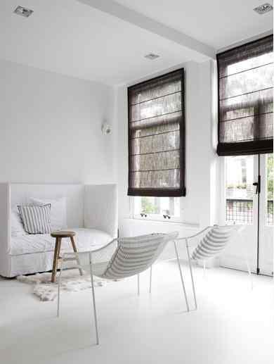 Decoracion minimalista en blanco