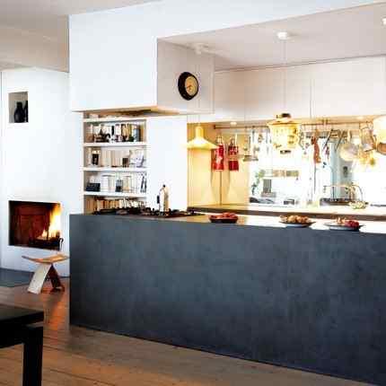 Colorido loft parisino - cocina