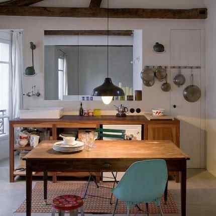 Espacios reducidos: elegante miniloft de 42 metros - cocina