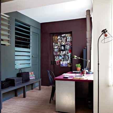 Colorido loft parisino - escritorio