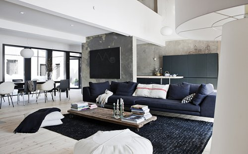 black and white themed living room decoraci 243 n de casas interiores en estilo moderno n 243 rdico 25961