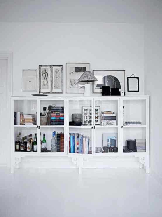 Decoración de casas con estilo nórdico minimalista en blanco 10