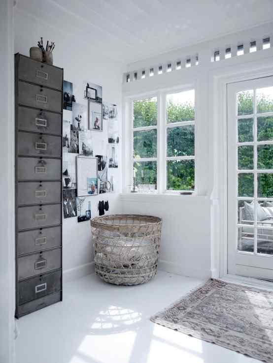 Decoración de casas con estilo nórdico minimalista en blanco 11