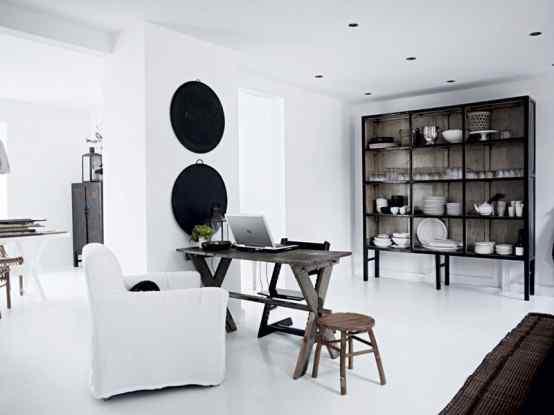 Decoración de casas con estilo nórdico minimalista en blanco 4