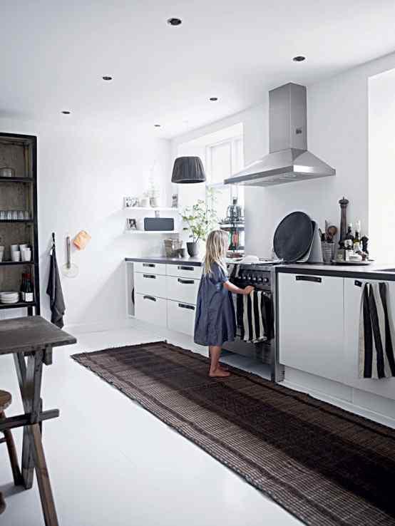 Decoración de casas con estilo nórdico minimalista en blanco 5