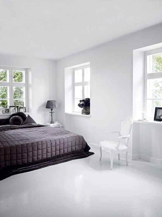 Decoración de casas con estilo nórdico minimalista en blanco 6