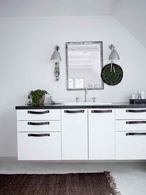 Decoración de casas con estilo nórdico minimalista en blanco 7