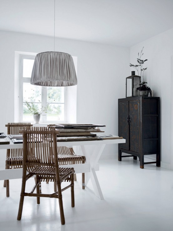 Decoración de casas con estilo nórdico minimalista en blanco 8