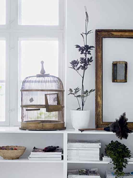 Decoración de casas con estilo nórdico minimalista en blanco 9