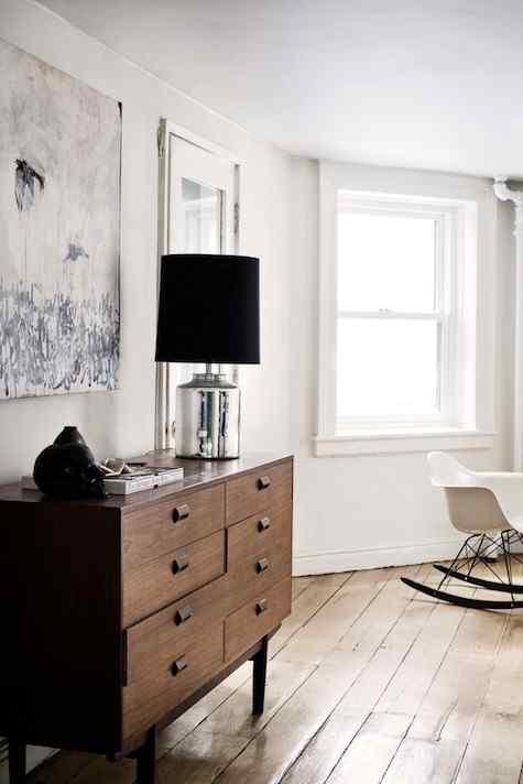 Muebles de diseño en el living