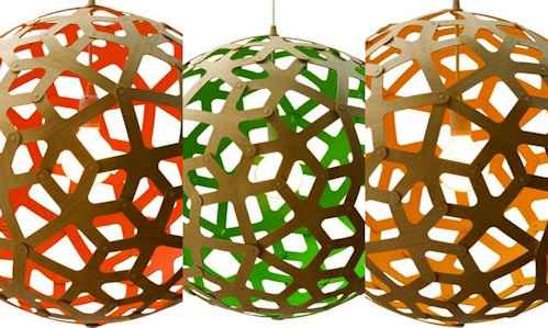 lámpara colgante Coral en diferentes colores