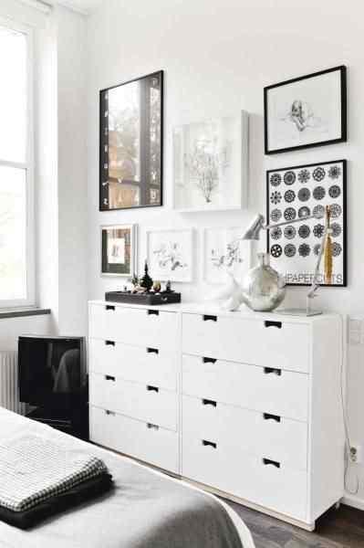 Departamento pequeño estilo escandinavo: dormitorio