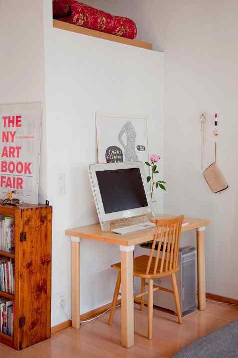 Decoración de monoambientes: pequeño escritorio - home office