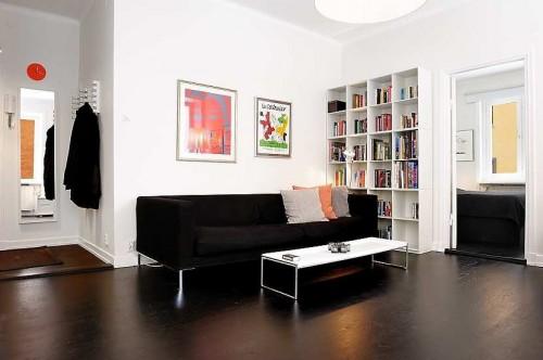Departamento moderno de 47 metros ambientado en blanco y negro