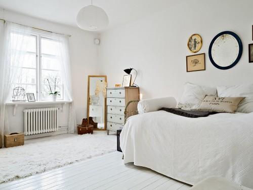 decoración monoambiente sillon cama