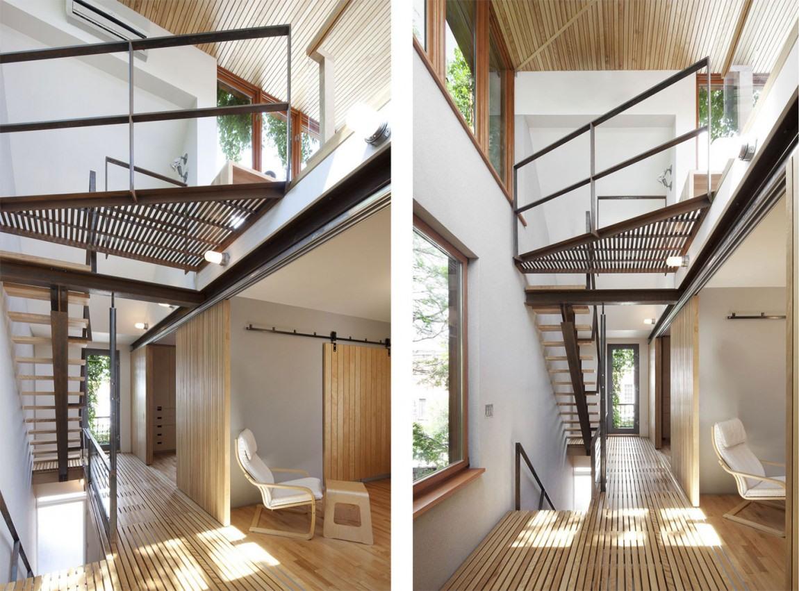 Arquitectura moderna casa urbana de bernier thibault - Casas arquitectura moderna ...