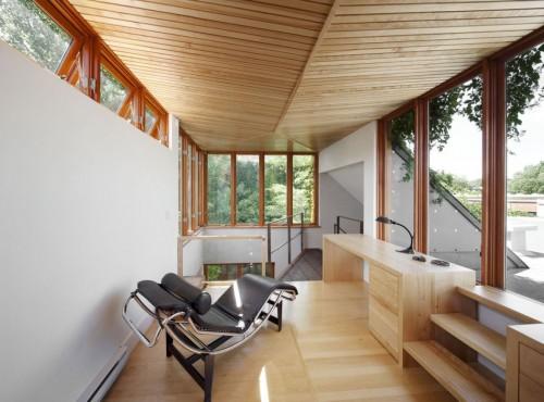 Casa moderna urbana escritorio