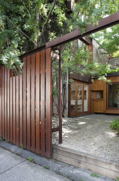 Casa moderna urbana entrada