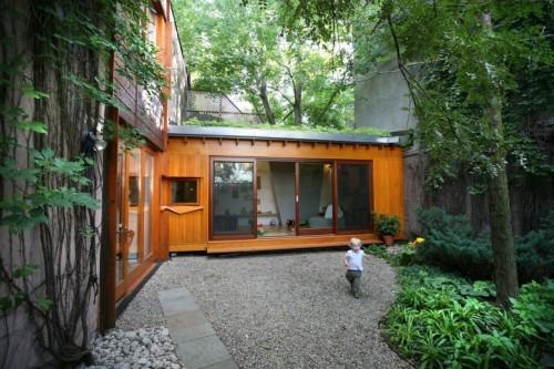 Casa moderna urbana patio