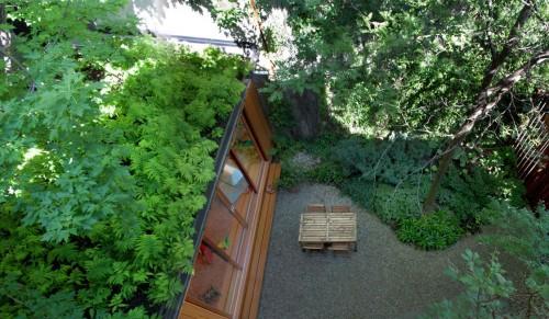 Casa moderna urbana jardin terraza