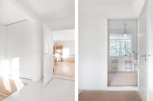 Cabaña en blanco minimalista