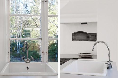 Ventana cocina en cabaña minimalista