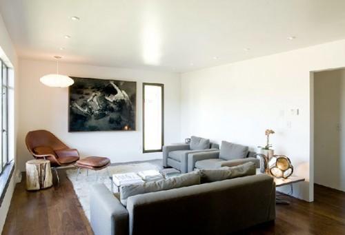 Interiores modernos, elegantes y sobrios