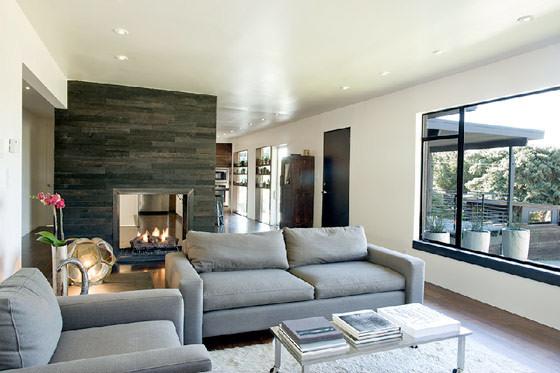 Casa con interiores modernos sobrios y elegantes for Decoracion de casas modernas y elegantes