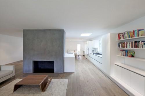 Living en casa moderna minimalista