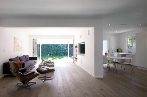 Living casa moderna minimalista