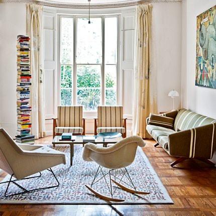 Living estilo ingles, casa en Notting Hill