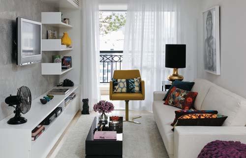 Diseño de interiores de departamentos modernos: living