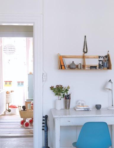 Escritorio en hogar bohemio