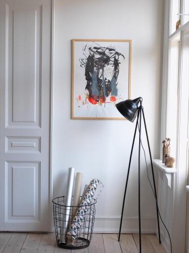 Arte en hogar bohemio