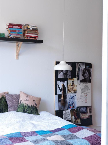 Decoración habitación en hogar bohemio
