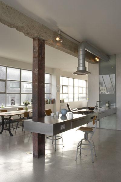 Cocina industrial loft moderno