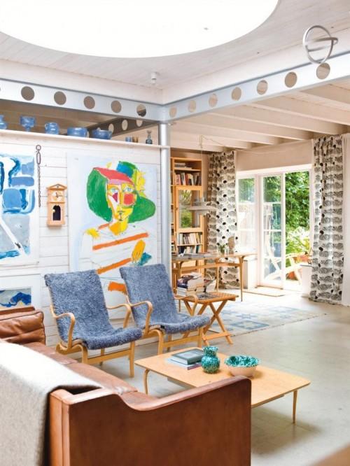 Casa de estilo escandinavo con ambientes integrados